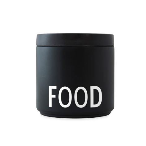 Design Letters Thermo Lunch Box Food L Black