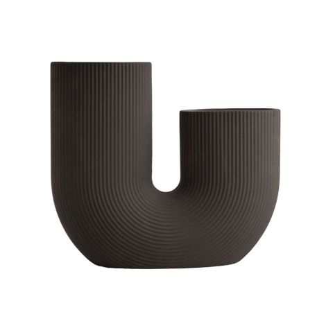 Storefactory Vase Stråvalla Keramik Dark Grey