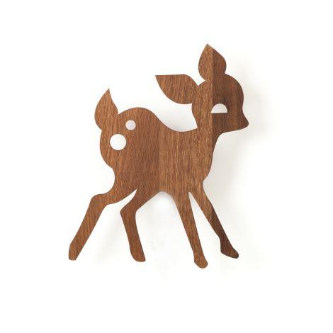 ferm LIVING Wandlampe My Deer Smoked Oak