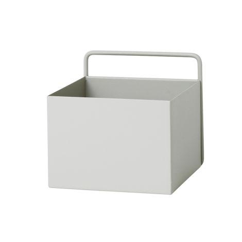 ferm LIVING Aufbewahrungsbox Wand Square Light Grey •