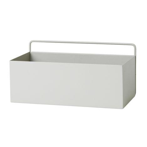 ferm LIVING Aufbewahrungsbox Wand Rectangle Light Grey