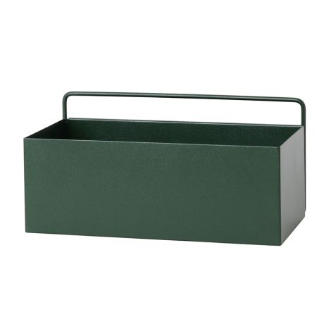 ferm LIVING Aufbewahrungsbox Wand Rectangle Dark Green