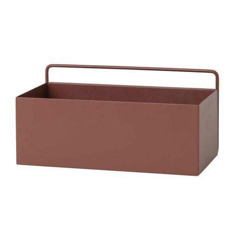 ferm LIVING Aufbewahrungsbox Wand Rectangle Red Brown •