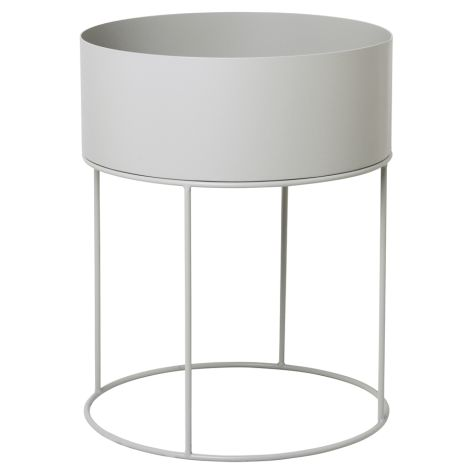 ferm LIVING Plant-Box/Multi-Box Rund Light Grey