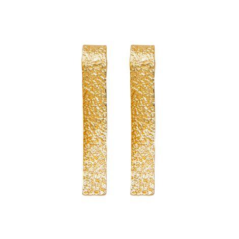 Dansk Smykkekunst Ohrring Amber Wave Vergoldet