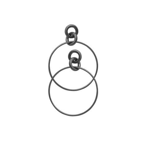 Dansk Smykkekunst Ohrringe Infinity Hoop Hämatitüberzug •