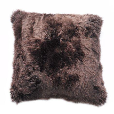 Natures Collection New Zealand Sheepskin Cushion Chocolate 50 x 50