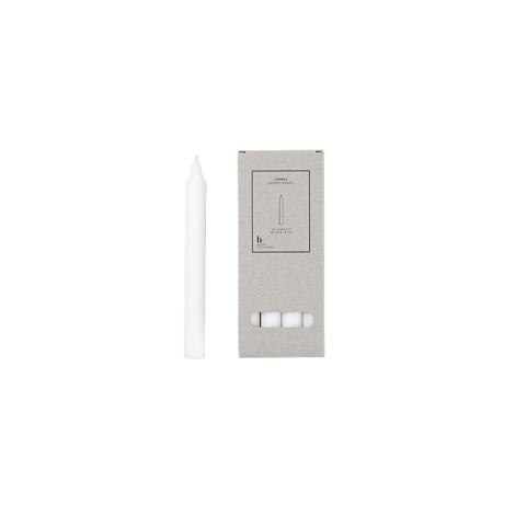 Broste Copenhagen Stabkerze Rustik Pures Weiß 8er-Set