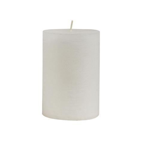 IB LAURSEN Kerze Rustikal Weiß 10 cm