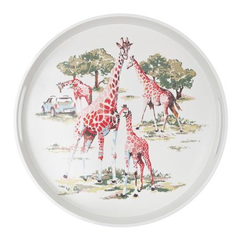 Cath Kidston rundes Melamintablett Safari Cream •