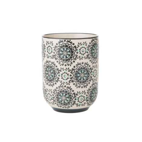 Bahne & Co. Becher Flowers Black/White