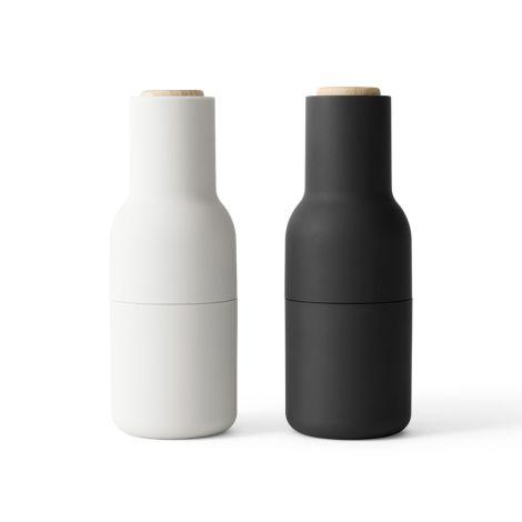 Menu Bottle Salz- & Pfeffermühle Ash/Carbon Beech 2er-Set