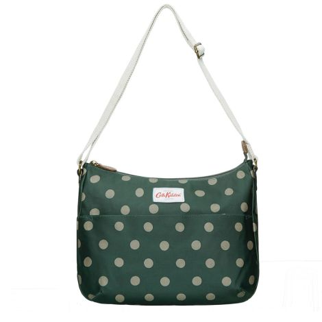 Cath Kidston Handtasche Everyday Bag Button Spot Forest Green