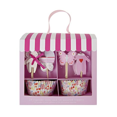 Meri Meri Cupcake-Set Baby Shower Girl