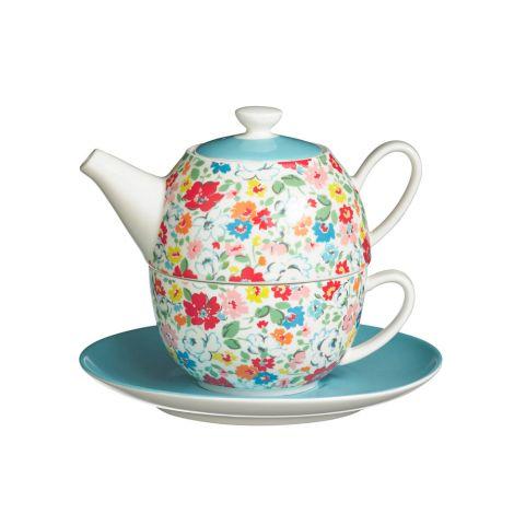 Cath Kidston Tee-Set Tea For One Mews Ditsy Multi •