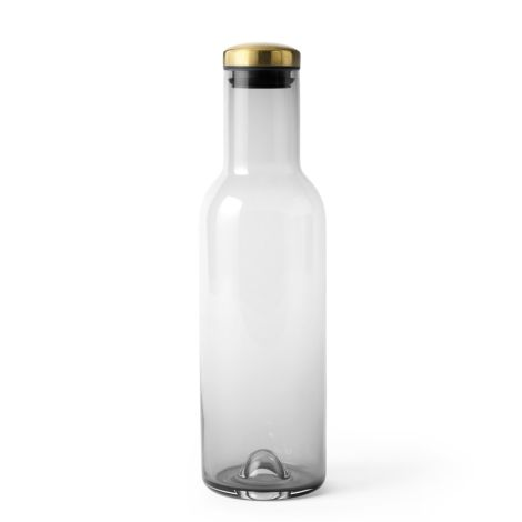 Menu Bottle Karaffe 1 L mit Deckel Smoke/Bras