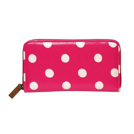 Cath Kidston Geldbörse Zip Wallet Button Spot Raspberry