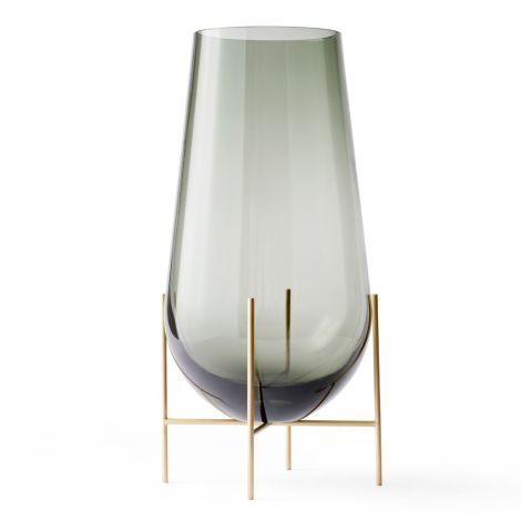 Menu Echasse Vase S Smoke/Brushed Brass