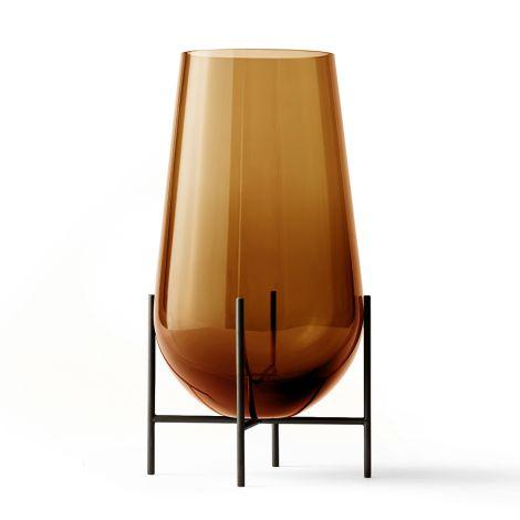 Menu Echasse Vase Amber/Bronzed Brass M