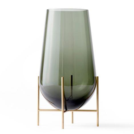 Menu Echasse Vase M Smoke/Brushed Brass