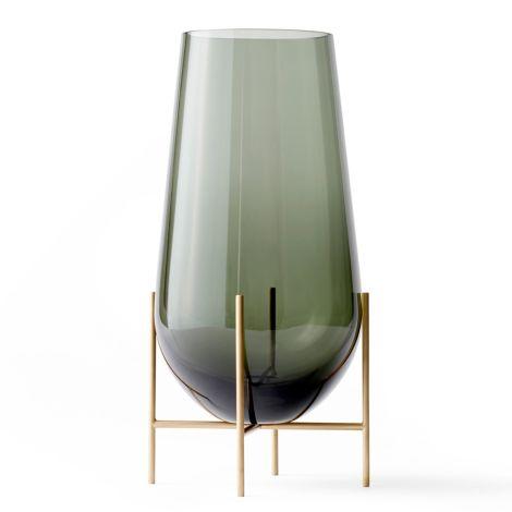 Menu Echasse Vase L Smoke/Brushed Brass