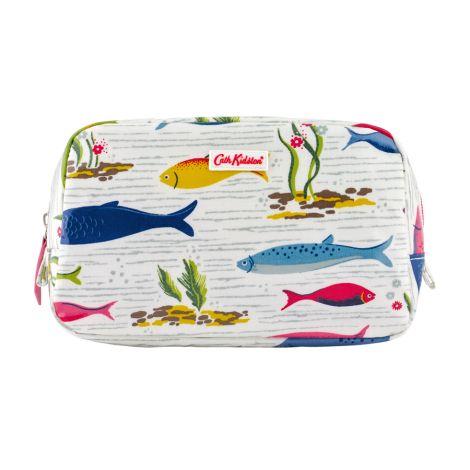 Cath Kidston Kosmetiktasche Mini River Fish White •