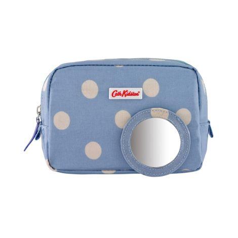 cath kidston make up tasche mini button spot dream blue online kaufen emil paula. Black Bedroom Furniture Sets. Home Design Ideas