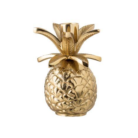 Bloomingville Kerzenhalter Ananas Gold 13cm •