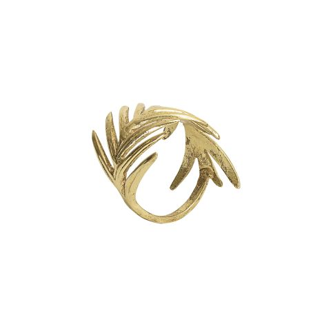 Bloomingville Serviettenring Gold Leaves 4er-Set •