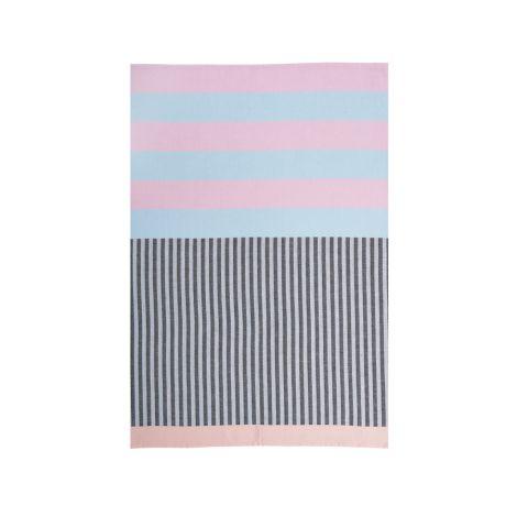 Miss Étoile Geschirrtuch Blue/Pink/Black