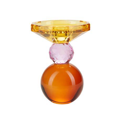 Miss Étoile Kerzenhalter Yellow/Rose/Amber runder Boden