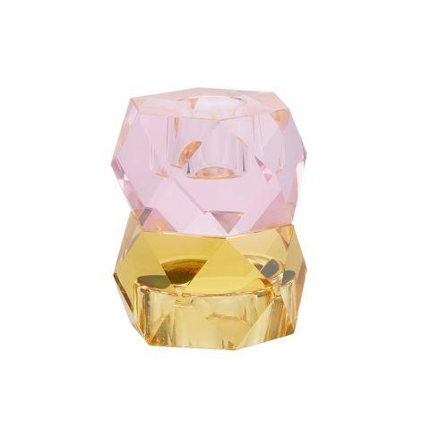 Miss Étoile Kerzenhalter für Teelicht und Stabkerze Rose/Yellow