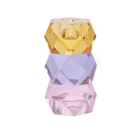 Miss Étoile Kerzenhalter für Teelicht und Stabkerze Yellow/Purple/Rose