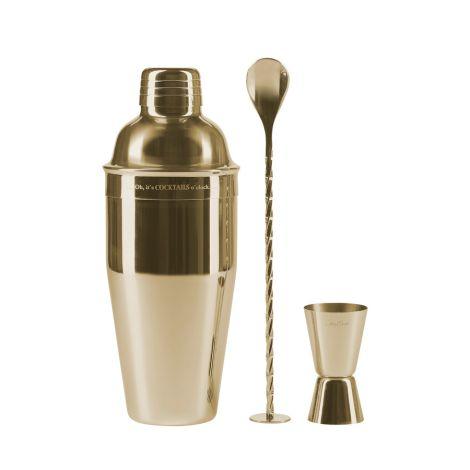 Miss Étoile Cocktail-Set Gold 3-teilig