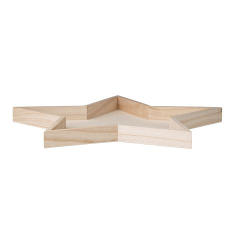 Bloomingville Sternförmiges Tablett Holz