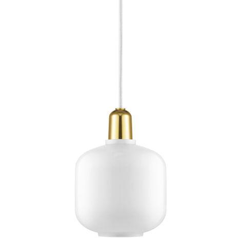 Normann Copenhagen Amp Hängeleuchte Small White/Brass •
