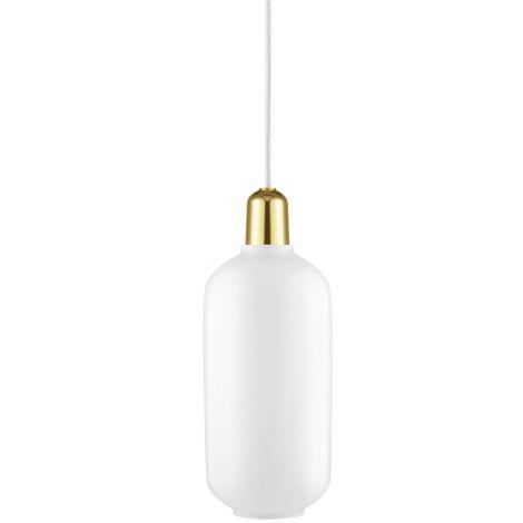 Normann Copenhagen Amp Hängeleuchte Large White/Brass •