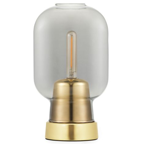 Normann Copenhagen Amp Tischlampe Smoke/Brass