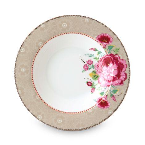 PIP Studio Suppenteller Rose Khaki 21,5 cm