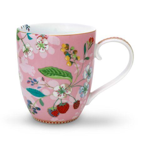 PIP Studio Große Tasse XL Hummingbirds Pink 450 ml
