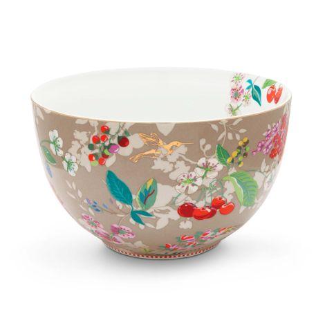 PIP Studio Schüssel Hummingbirds Khaki 23 cm •