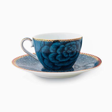 PIP Studio Espressotasse mit Unterteller Spring to Life Blue