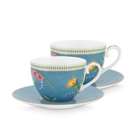 PIP Studio Tasse & Unterteller La Majorelle Blue 280ml 2er-Set