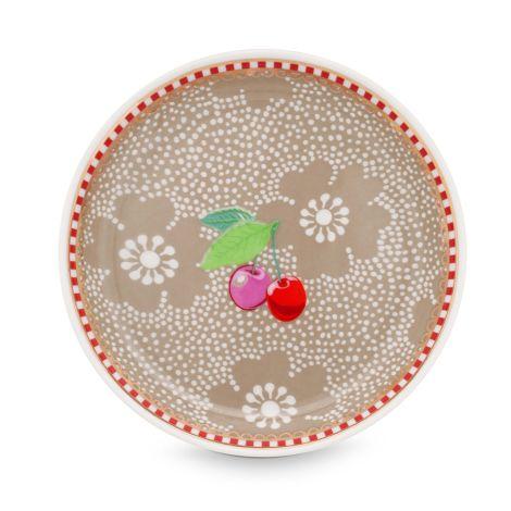 PIP Studio Teebeutel Schälchen Dotted Flower Khaki •