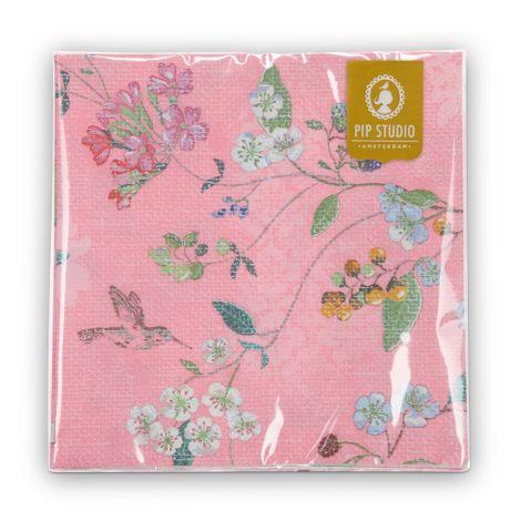 PIP Studio Papier-Servietten Hummingbirds Pink