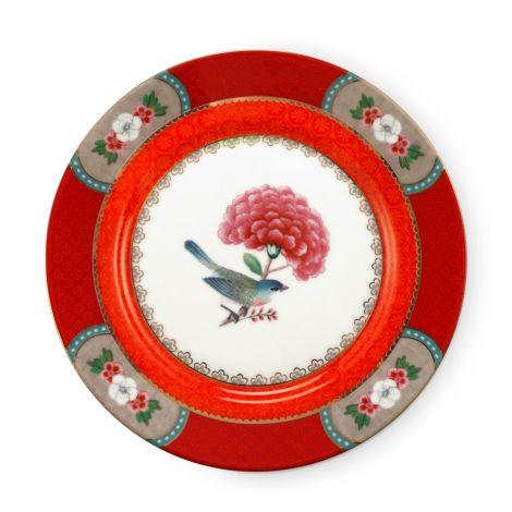 PIP Studio Teller Blushing Birds Red 17 cm