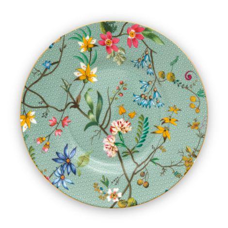 PIP Studio Teller Jolie Flowers Blue 12cm