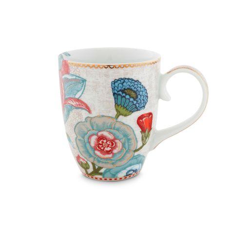 PIP Studio Große Tasse Spring to Life Blüten Off White