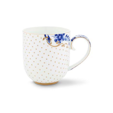 PIP Studio Große Tasse Royal White Dots •