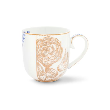 PIP Studio Kleine Tasse Royal White Golden Flower